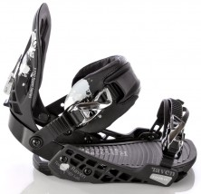 Wiązania snowboardowe Raven s700 black/silver 2012