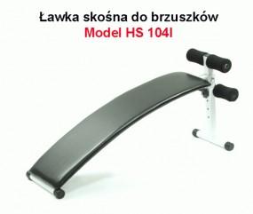 ŁAWKA SKOŚNA HS 104 L /WWW.SPORTBODY.PL/ ŁAWECZKA DO BRZUSZKÓW