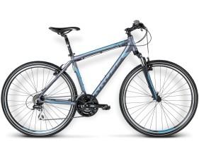 Rower Evado 2.0 Grafitowy / niebieski mat