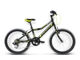 Rower Hexagon Mini czarny / limonkowy / biały połysk
