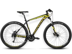 Rower Level B1 czarny / żółty / biały połysk