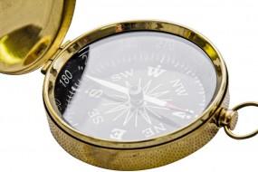 Kompas mosiężny z wieczkiem