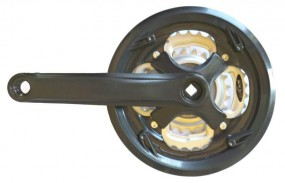 Mechanizm korbowy MTB 42-34-24 czarny